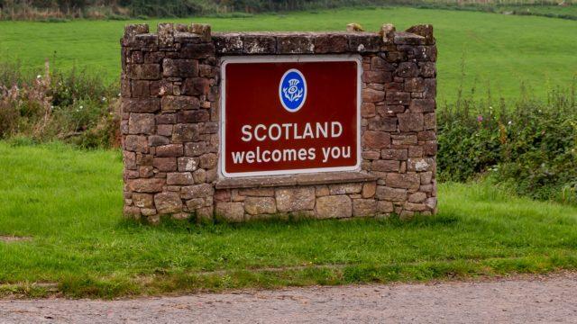 Entering Scotland